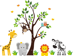 jungle animals border clipart. Wonderful Animals Jungle Animal Border  Combyo Magic  Jackson  District Library Inspiring Inside Animals Clipart