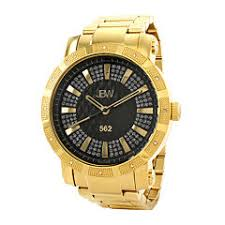 mens watches casual watches for men on jcpenney jbw 562 mens 1 8 ct t w diamond gold tone stainless steel watch 247 50