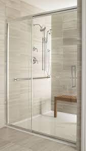 innovative frameless sliding shower doors tub and bear glass