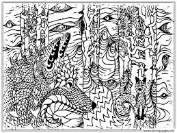 Hard Wolf Coloring Pages