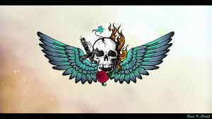 Tapety Ilustrace Tetování Lebka Dravý Pták Orel Křídlo