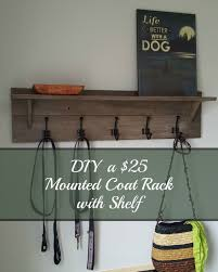 Diy Wall Mounted Coat Rack Turtles And Tails Wallmounted Coatrack With Shelf DIY For 100 49