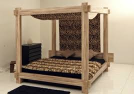 Solid Wood Canopy Bed 50 cool ideas for canopy beds made of wood in the  bedroom