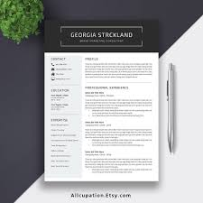 2019 Resume Cv Template Cover Letter Digital Editable Ms Word Resume For Student Intern Fresh Graduate And Professionals Georgia Resume