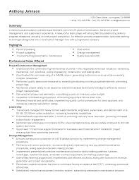 Resume Templates: Construction Superintendent