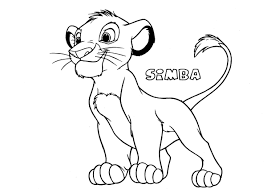 Lovely Simba Coloring Pages 17 In Free Coloring Book With Simba