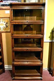 mission bookcase glass doors oak architecture stunning antique bookcases with stack bar