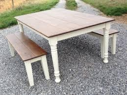 Bench Style Kitchen Table Diy Farm Style Kitchen Table Best Kitchen Ideas 2017