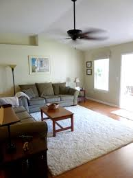 small living room with grey sofa also wooden table on white rug cool features fluffy area rugs for interior design safavieh black and throw blue cream