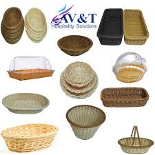 wood bread basket with cover