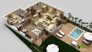 floor plan 3d. 3D Luxurious Residential Floor Plan - Design CG Gallery  Computer Graphics Forum Floor Plan 3d R