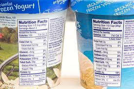 frozen yogurt nutrition facts