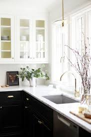 black kitchen cabinets with white marble countertops. Full Size Of Countertops \u0026 Backsplash:contrast Tones Kitchens Ideas White Marble Countertop Rectanguler Kitchen Black Cabinets With