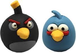 Amazon.com: Angry Birds Blue Bird and Black Bomb Bird Puzzle ...