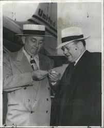 1950 Press Photo Bailiff Albert Horan & Deputy Police Commissioner ...
