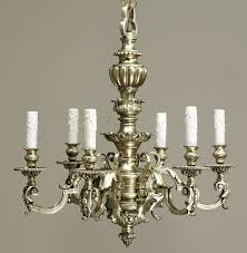 trendy baroque chandelier throughout cast bronze baroque chandelier with chain canopy inessa gallery