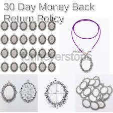 24 pcs bezel pendant trays oval cabochon settings trays pendant blanks silver