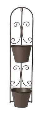 rustic brown metal garden wall hanging