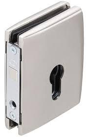 sliding door lock with compass bolt for glass sliding doors