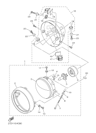 2013 yamaha stryker xvs13cdr headlight parts best oem headlight rh bikebandit stryker reconnaissance vehicle diagram