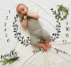 Monthly Milestone Baby Blanket Backdrop Photography Photo Prop Growth Chart Newborn Toddler
