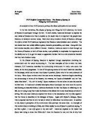 comparison essay the shades of spring things by d h lawrence  page 1 zoom in
