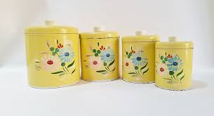 Yellow Canister Sets Kitchen Kitchen Canisters Canister Set Farmhouse Kitchen Decor Ransburg