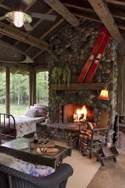 40 rustic country cabins with a stone fireplace for a romantic get away 40