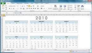Microsoft Office 2010 Calendar Templates Office 2010 Office 2010 Calendar Templates