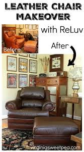 leather chair makeover with reluv get the details on how i made this 20 year