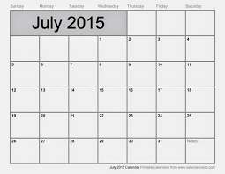 Free Calendar Template July 2015 Oyle Kalakaari Co