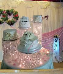 chandelier crystal waterfall cake wedding stand hire asian