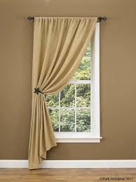 burlap curtain ideas change to ruffled top nice look for many smaller living room