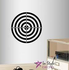 decor art sticker darts target shooting