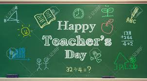 Happy Teachers Day Chart Happy Teachers Day Message With Colorful Hand Drawings