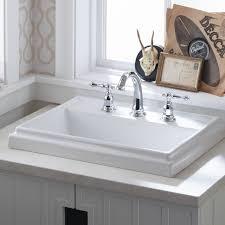 kohler tresham sink. Delighful Sink K29918K299110K2991133K2991147 Kohler Tresham Ceramic  Rectangular DropIn Bathroom Sink With Overflow U0026 Reviews  Wayfair Intended Tresham
