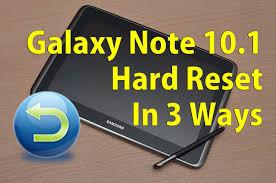 Reset Samsung Galaxy Note 10 1