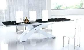 extendable glass top dining table large glass dining table dining room large black modern extendable glass
