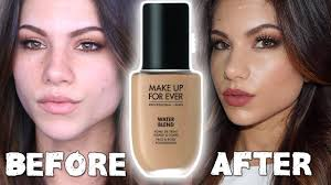 new makeup for ever water blend foundation first impressions review demo you