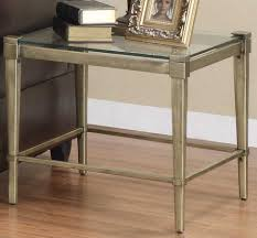 homelegance comfort living end table metal and glass picture with