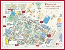 usc campus map  university of southern california • mappery