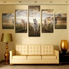 framed horse canvas art print wall art picture for living room decor painting free