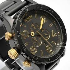 mens gold nixon watch new nixon watch mens 51 30 chrono matte black gold a083 1041 a0831041