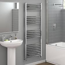 iBathUK 1600 x 600 Curved Heated Towel Rail Chrome Bathroom Radiator