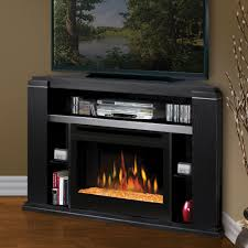 dimplex cloverdale black corner electric fireplace a console glass embers gds25g 1154ba