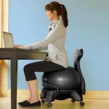 image of cozy yoga ball desk chair