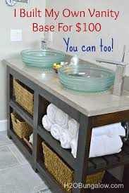 open shelf vanity. Delighful Open DIY Open Shelf Vanity With Free Plans And Tutorial To Build A Vanity Would  Look Fantastic As Kitchen Island Too WwwH2OBungalowcom Inside I