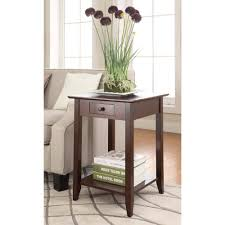 convenience concepts american heritage end table multiple finishes com