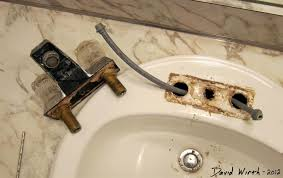 installing a bathroom faucet. Running The Pipe Into Faucet Installing A Bathroom H