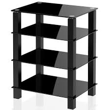 tv table stand. tv media stand storage tower glass shelves for av components console lcd table apple tv xbox one ps4-as406002gb i